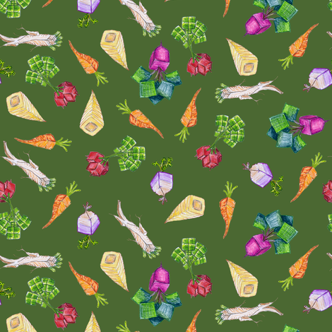 baby square roots on Avogadro green fabric by weavingmajor on Spoonflower - custom fabric