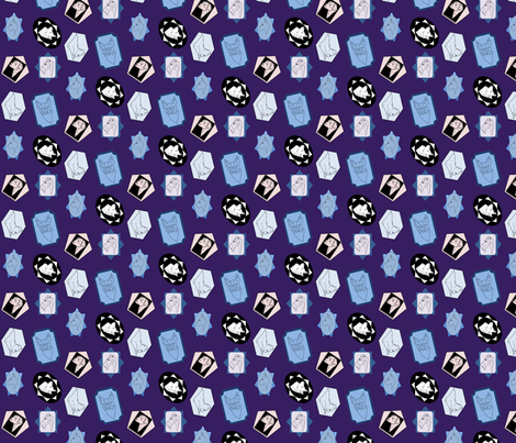 Dog cameo fabric by jennifer_kuykendall on Spoonflower - custom fabric