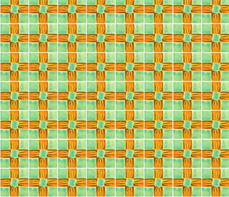 Waffle, Gold & Turq-18 fabric by pad_design on Spoonflower - custom fabric