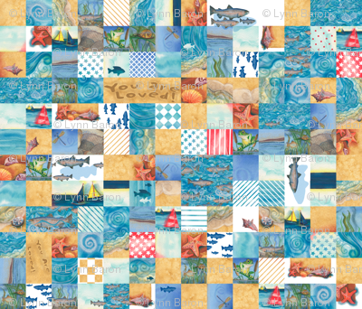 """Boys """"You Are Loved"""" Cheater Quilt (repeating)"""