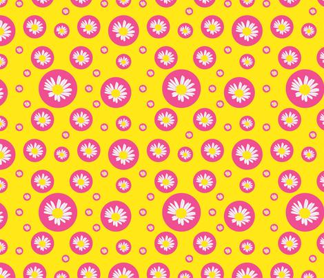 Daisy fabric by alexsan on Spoonflower - custom fabric