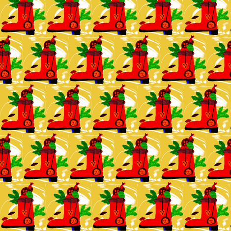 Christmas Boot fabric by angelsgreen on Spoonflower - custom fabric