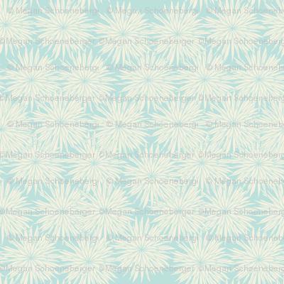 Aqua and White Flowers