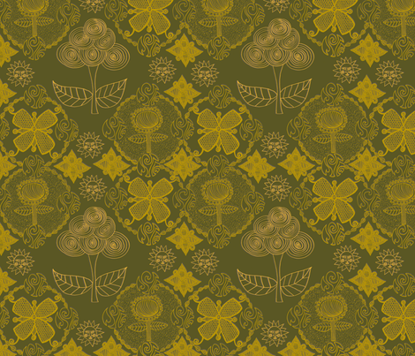 Versailles Damask fabric by erinina on Spoonflower - custom fabric