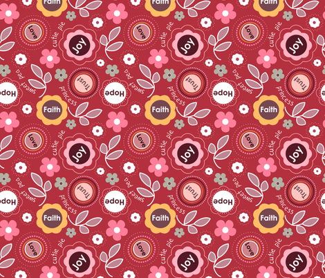 sweet pea fabric by emilyb123 on Spoonflower - custom fabric
