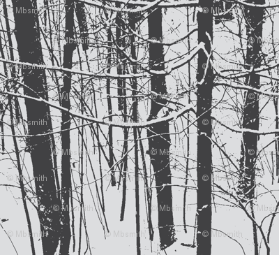 Snow Tree Stripes | Pencil Lines