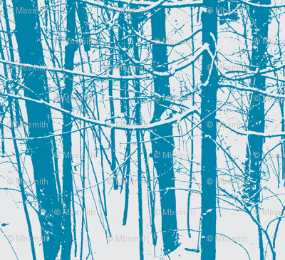 Snow Tree Stripes | Caribbean Blue