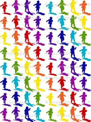 Rainbow Silouhette with matching rainbow shadows