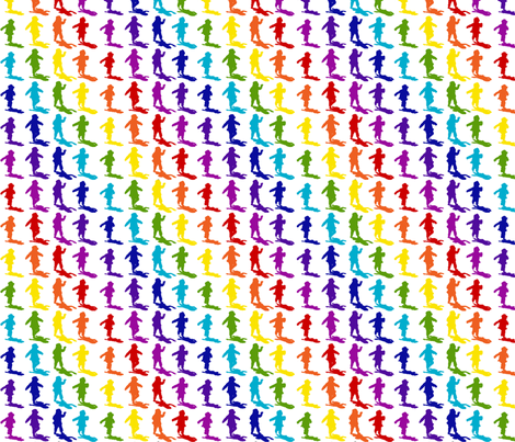 Rainbow Silouhette with matching rainbow shadows fabric by upcyclepatch on Spoonflower - custom fabric