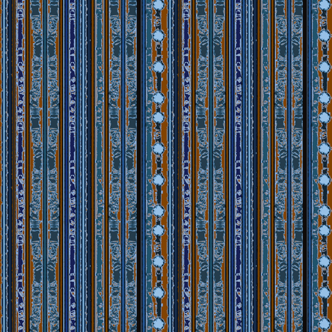Brown & Blue Stripes fabric by karendel on Spoonflower - custom fabric