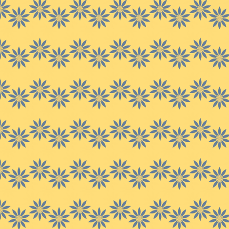 daisy stripe fabric by vo_aka_virginiao on Spoonflower - custom fabric