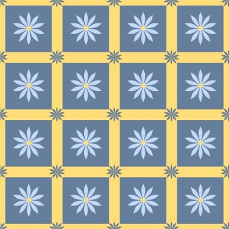 Rdaisy_flower_square_3_on_gold_1_inch_shop_preview