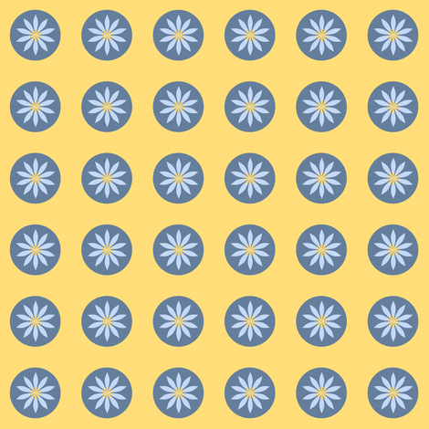 a daisy circle fabric by vo_aka_virginiao on Spoonflower - custom fabric
