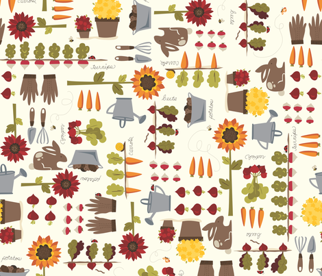 Root_Veggies_and_More_1 fabric by stacyiesthsu on Spoonflower - custom fabric