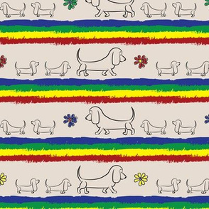 Doodle Basset Stripes (Tan)