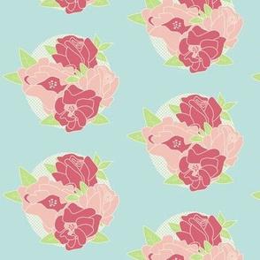 Roses on Aqua