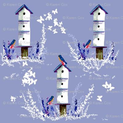 Birdhouses, Bluebirds and Butterflies