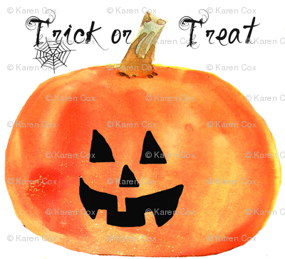 Jack-o-lantern pillow or craft