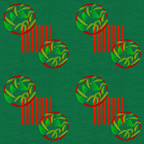 When the grass is at the gate, red, by Su_G fabric by su_g on Spoonflower - custom fabric
