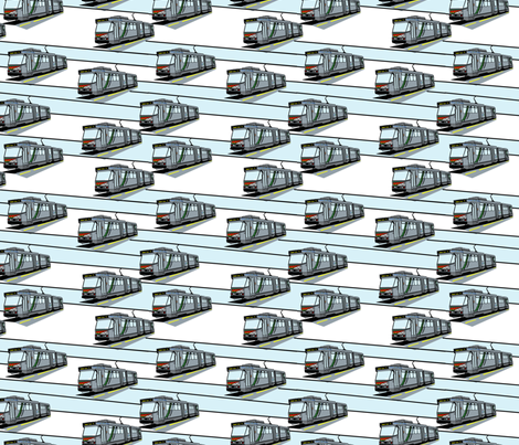 Modern Tram Route 75 fabric by upcyclepatch on Spoonflower - custom fabric