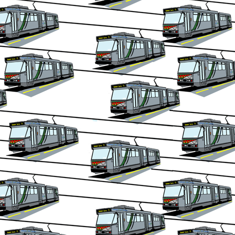 Modern Tram Route 75 -  Plain fabric by upcyclepatch on Spoonflower - custom fabric