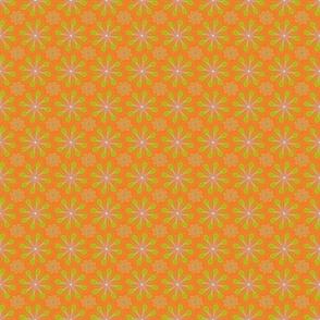 halloween_flower_print_orange green-ch