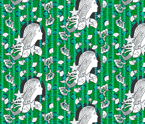 Princess of the Emerald Reef fabric by glimmericks on Spoonflower - custom fabric
