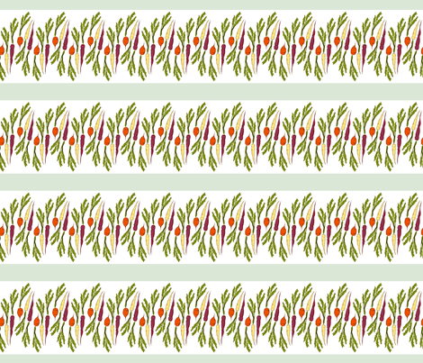 Colorful Carrots fabric by lurly on Spoonflower - custom fabric