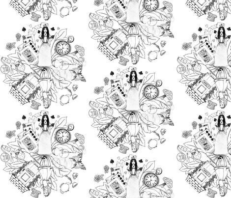 The World of Alice fabric by victoriagolden on Spoonflower - custom fabric