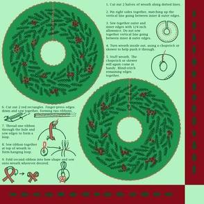 Mini Stuffed Wreath Christmas Ornament