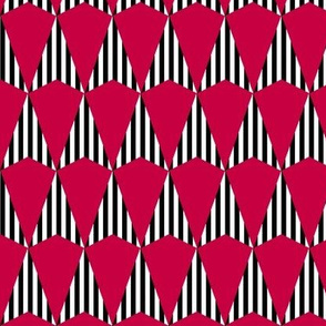 Stripes and Darts - Red