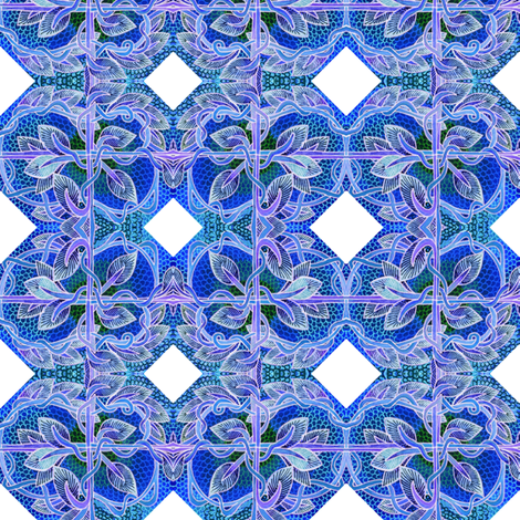 Little delft quilting tiles fabric by edsel2084 on Spoonflower - custom fabric