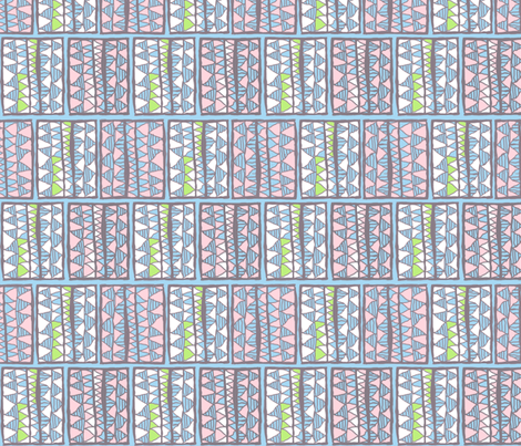 Gelati registers on blue, medium by Su_G  fabric by su_g on Spoonflower - custom fabric