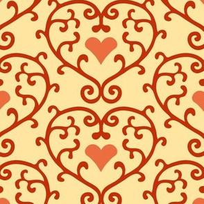 Heart scrolls