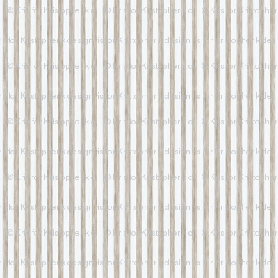 French Stripes - Antique White