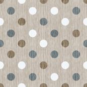 French linen polka dots