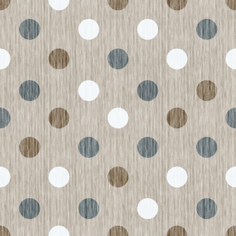 French linen polka dots fabric by kristopherk on Spoonflower - custom fabric