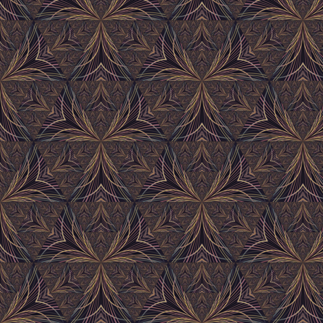 Brown Medieval Tapestry Look Triangles © Gingezel 2011 fabric by gingezel on Spoonflower - custom fabric