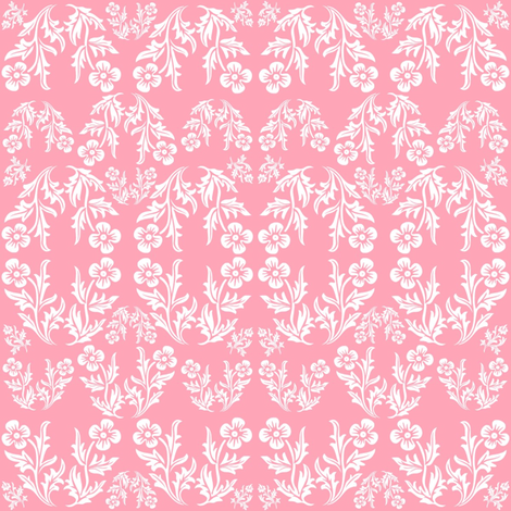 Pink Bouquet fabric by thepinkhome on Spoonflower - custom fabric