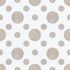 French linen bubbles - Antique White