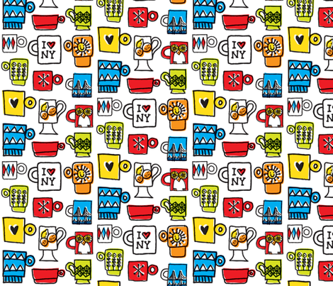 Mugs fabric by amywalters on Spoonflower - custom fabric
