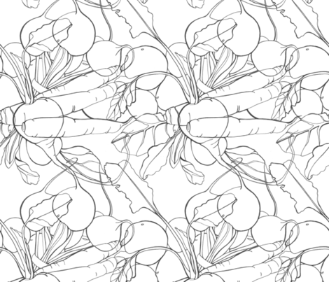 SMTRootVegetablePattern fabric by sheila_metcalf_tobin on Spoonflower - custom fabric