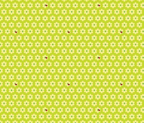 ladybug green fabric by slothdaddy on Spoonflower - custom fabric