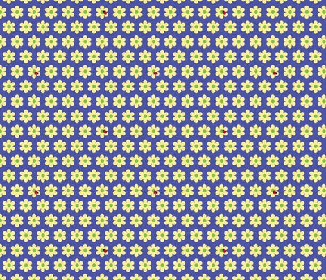 ladybugs blue fabric by slothdaddy on Spoonflower - custom fabric