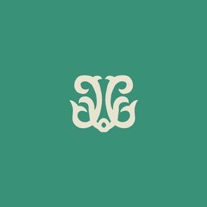 Inverse Dolphin Crest - Sealeaf Green