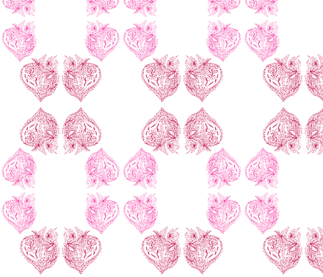 love hearts 2 fabric by zuzana on Spoonflower - custom fabric