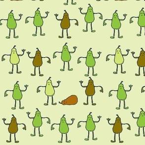 Dancing Pears Green