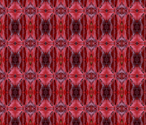Red Leaf I (mirrored) fabric by relative_of_otis on Spoonflower - custom fabric