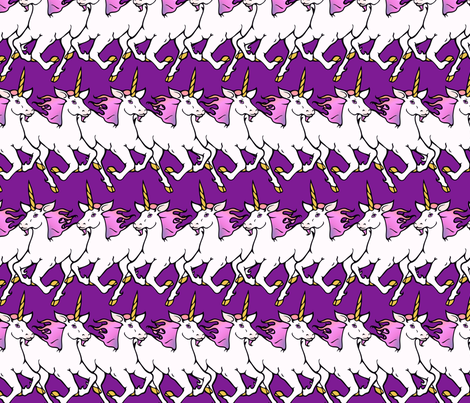 Big dancing unicorns fabric by hannafate on Spoonflower - custom fabric