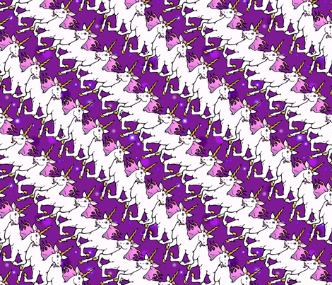 Dancing unicorns fabric by hannafate on Spoonflower - custom fabric
